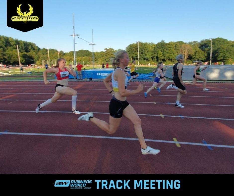 Lisa Rodenburg in actie tijdens Track Meeting 2020