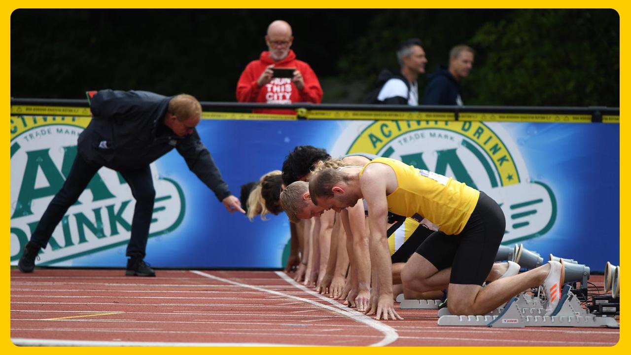 NK Atletiek 2020 start 100m