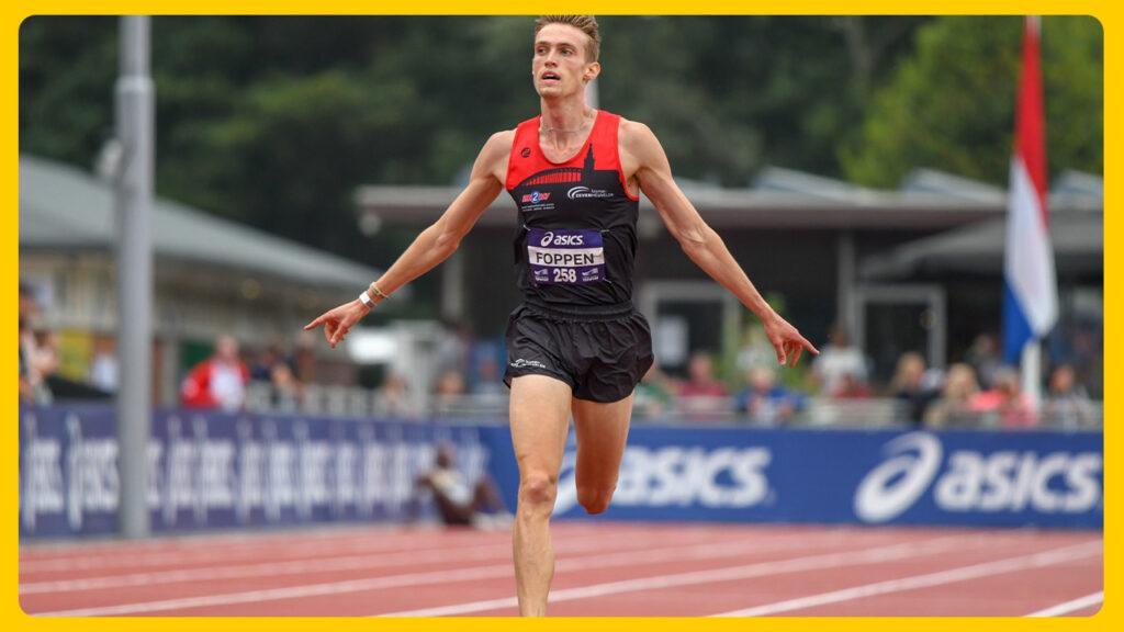 Foppen, sinds Monaco mede recordhouder op de 5000 meter
