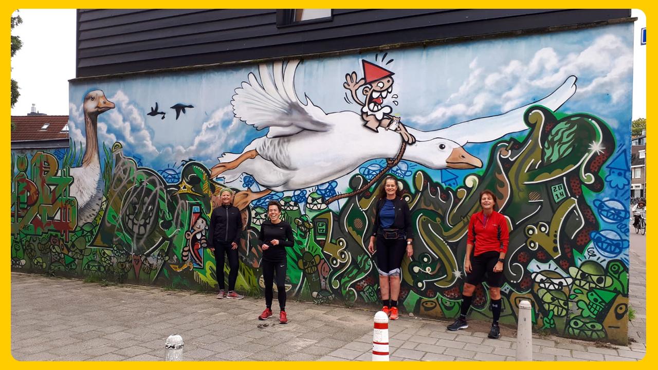 Trainen in coronatijd - Phoenix Streetart Running Tour