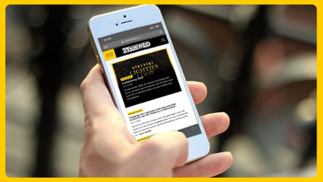 nieuwe site op mobiel
