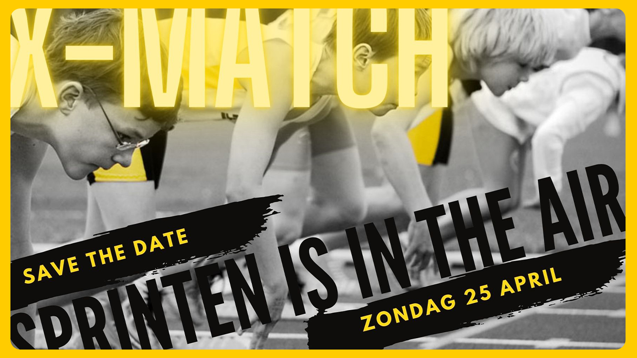 X-Match 3: Sprint is in the air op zondag 25 april - schrijf je nu in!