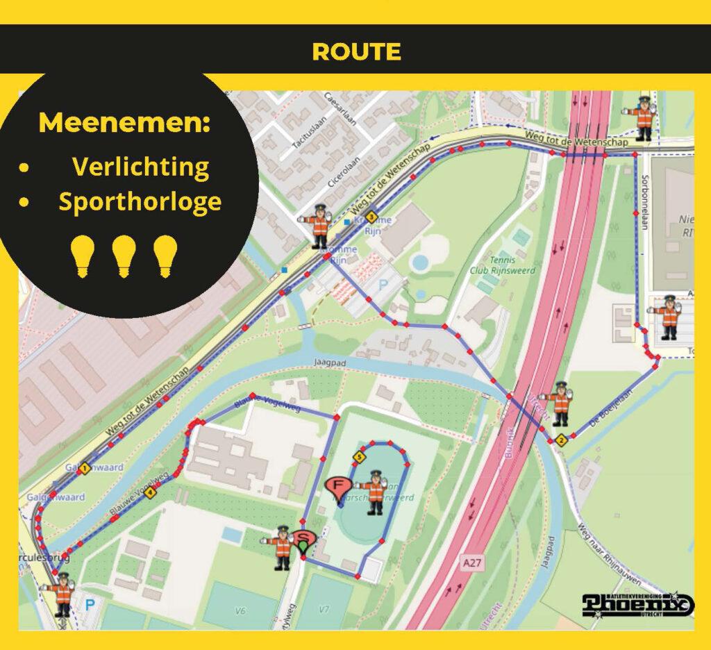 route 5km testloop recreanten